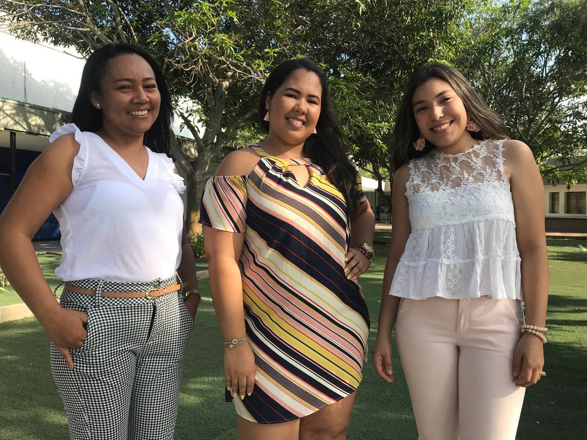 Zenia Escorcia Hernández, Sharina Miranda Caro y Natasha Osorio Esmeral del semillero SIGODS de Ingenierías.