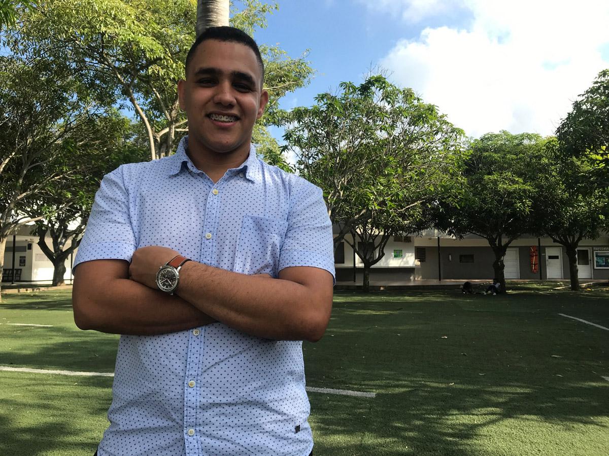 Atenógenes Blanco Padilla, del semillero SIGODS de Ingeniería.