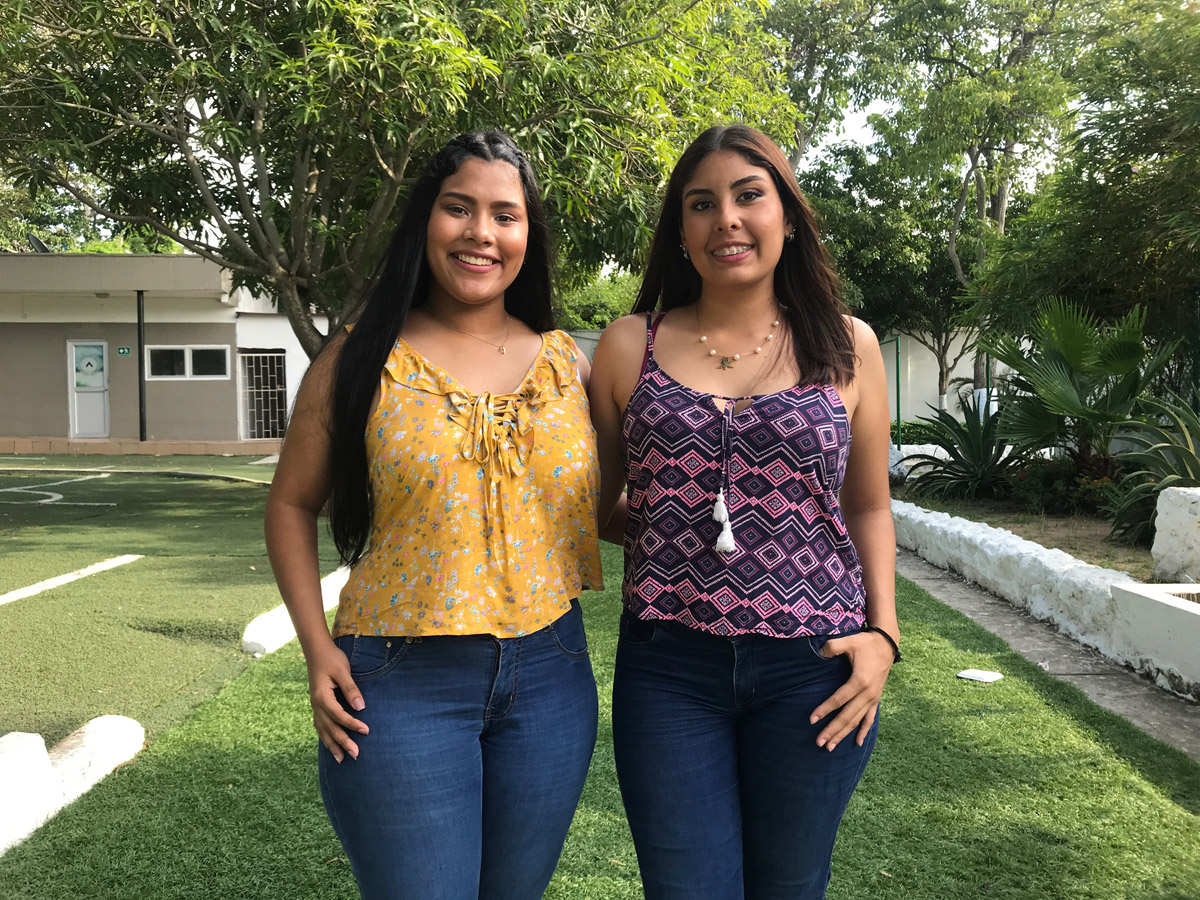 María Almendrales Macías y María Cammila Moya Villalobos de Ingeniería Biomédica, Semillero SITS.
