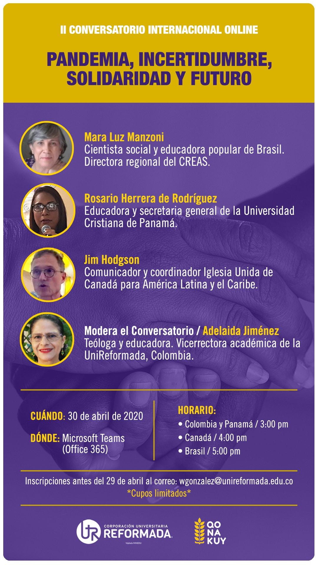 Conversatorio Covid, Pandemia, cooperación universitaria